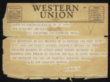 Western Union Telegrams